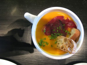 Beet soup at Birchwood Kitchen