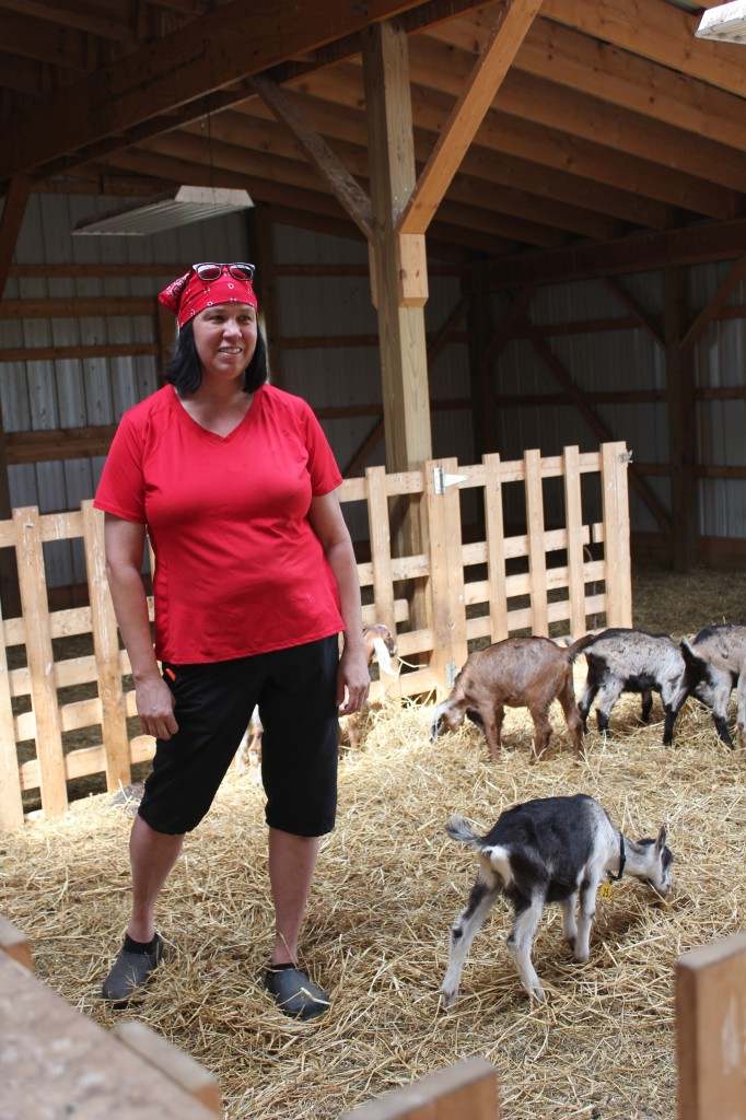 Kelly Young and her goats/Photo: David Hammond