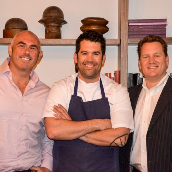 Billy Lawless, Chef Chris Thompson, and Ryan O'Donnell