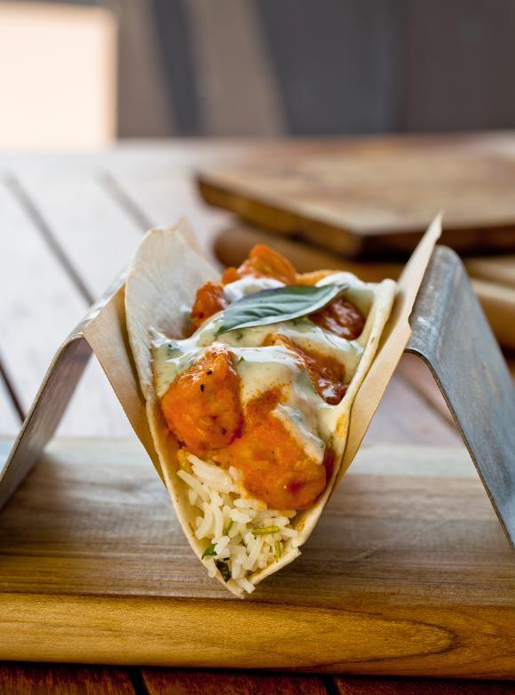 Crisp Tikka Chicken at Velvet Taco/Photo: Joel Hodge