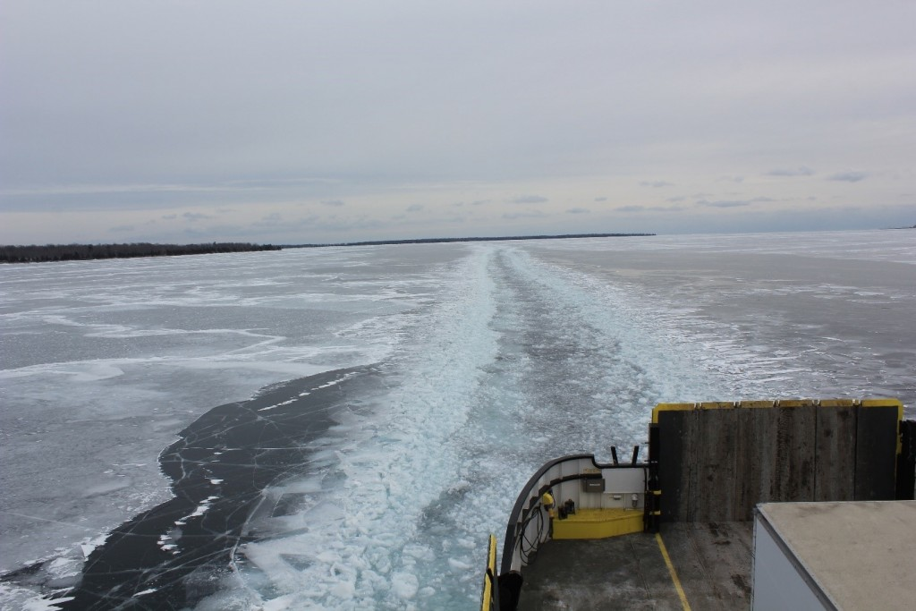 Ice breaker at Death's Door/Photo: David Hammond
