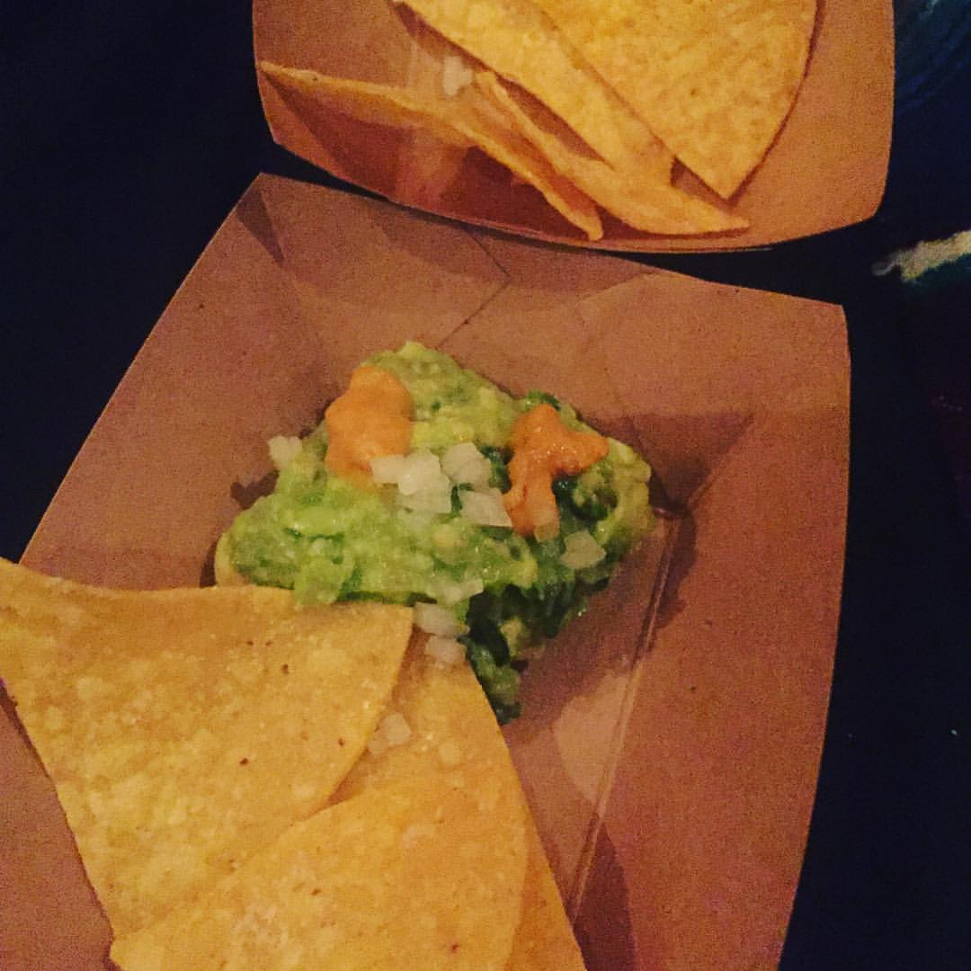 Guacamole with uni at The Aviary, Chicago