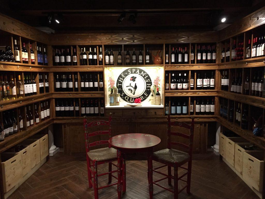Wine cellar at Spanish Square/Photo: Rosemary Lane