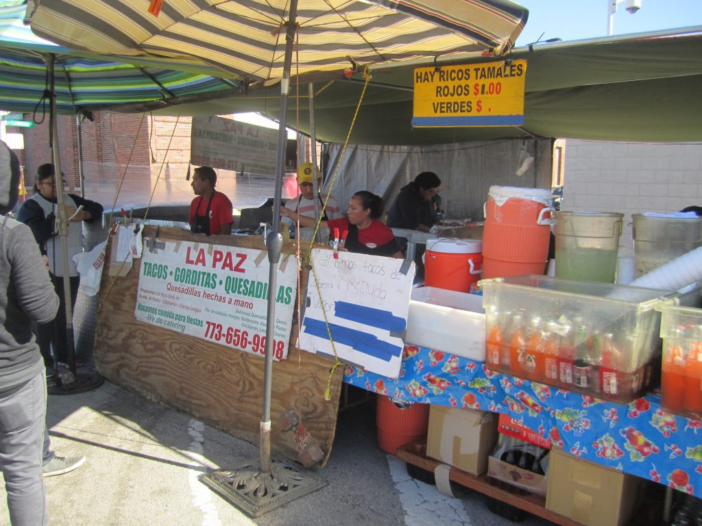 One of many tamale stands at Maxwell Street Market/Photo: David Hammond