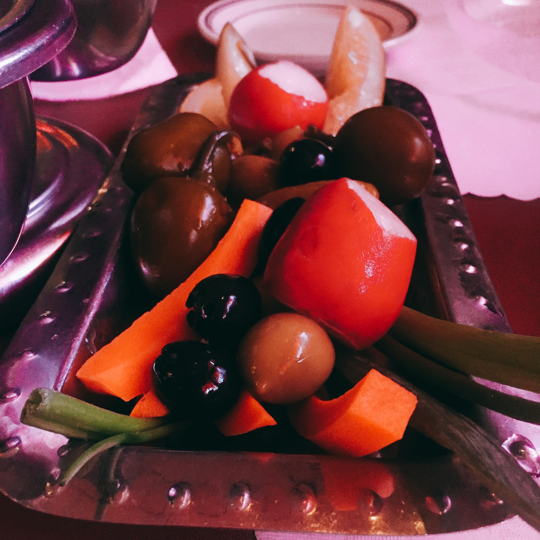 Relish tray at Five O'Clock, photo David Hammond